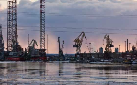 смотреть, северодвинск, порт, производственный, кранов, беломорским, великолепным, любоваться, зато, успели, памятники,