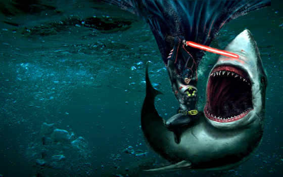 batman, акула, акулы, lightsaber,