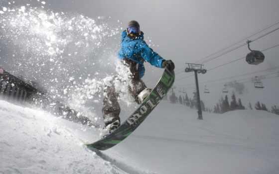 сноуборд, снег, snowboarding