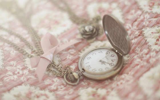 часы, лежат, свет