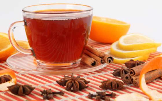 чая, оранжевый,