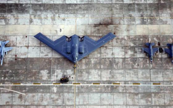 истребитель, бомбардировщик, spirit, stealth, ожидании, andersen, base,  b2,стелс, b-2, spirit