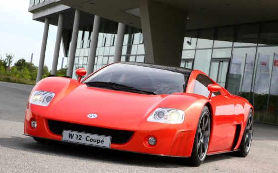 Volkswagen, W12, Nardo, Concept,красный,спорткар,