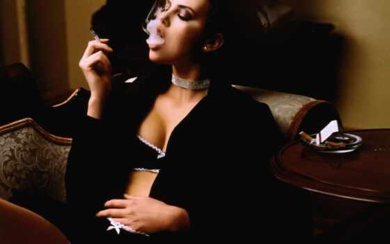 сигаретой, девушка, девушки