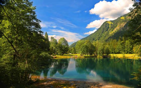 see, изображение, природа, natur, bäume, trees, wald, gebirge, bilder,