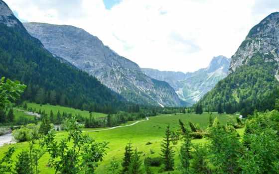 landscape, природа, горы, austrian, tyrol, картинка, трава, красивые, am, природы, высокого,