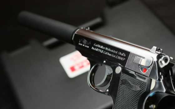 walther, ppk, walter, пистолет, самозарядный, глушитель, оружие, self, loading,