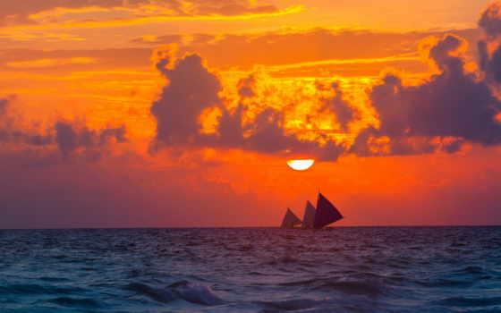 fone, лодка, планшетный, воде, корабли, широкоформатные, стоит, дюймов, sun,