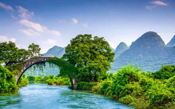 , река, мост, горы, dreywen,