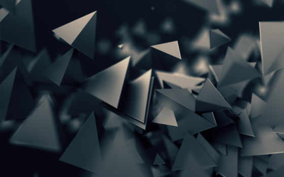 triangles, poly, low, abstract, desktop, dark, free,