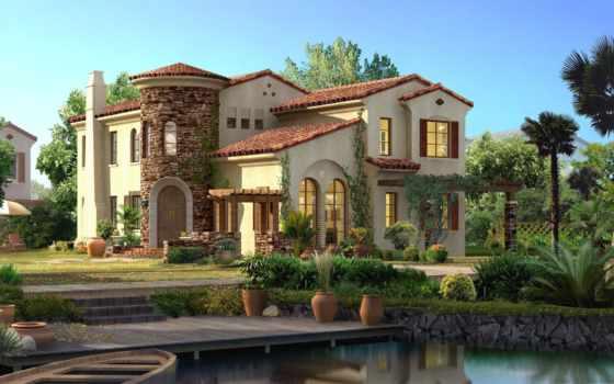 дома, самые, домов, красивые, out, знаменитостей, стиле, inside, средиземноморск, стиль,