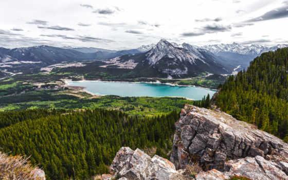 озеро, природа, шлагбаум