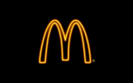 mcdonald, logo, black