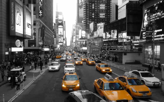 york, new, taxi, yellow, город, cab, nyc,