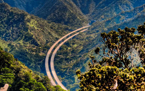 дорога, горы, height, горах, автобан, lightning,