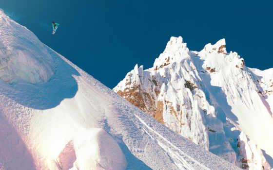 snowboarding, снег, прыжок, планшетный, mobile, ноутбук, телефон,