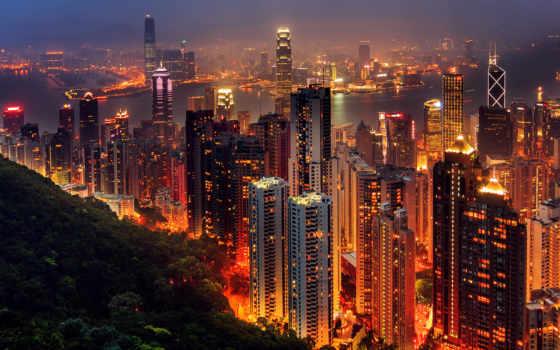 hong, kong, город
