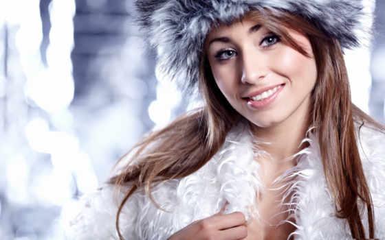 winter, люди, женщина