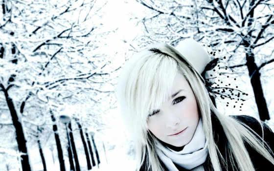 winter, devushki, девушка, снег, зимой, блондинки, blonde, девушек, trees, дек, красивых,