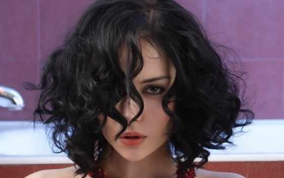 curly, волосы, боб, short, hairstyles, black, women, dark, you, are,