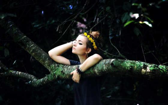 лес, природа, леса, pillowfights, devushki, картинку, zhivotnye, девушка,