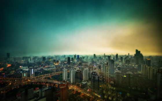 ,город,ночь,здания,высотки,дороги,