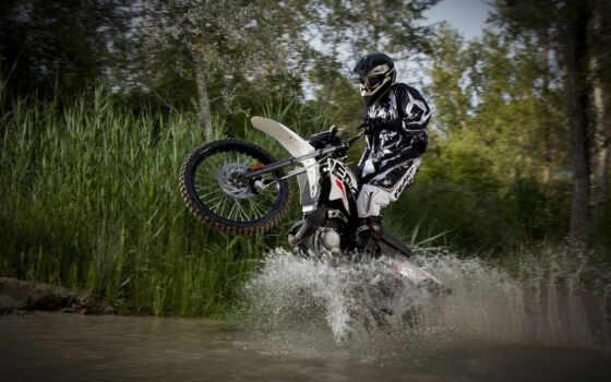мото, спорт, байки, water, брызги, колесе, заднем, мотоцикл, derbi, мотокросс,