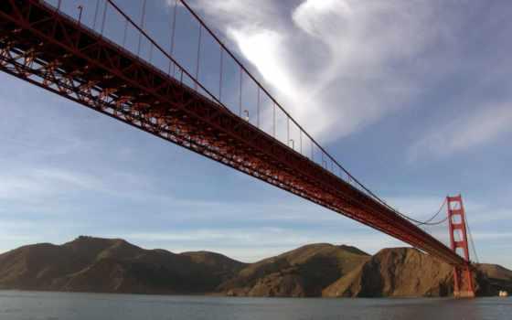 мост, золотистый, gate, sana, francisco, long, around, san,