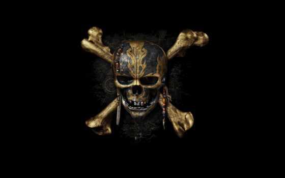 моря, карибского, пираты, череп, кости,