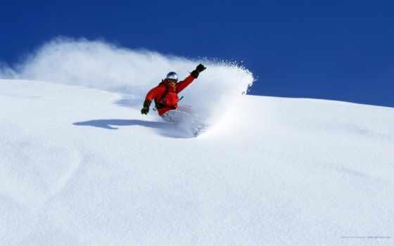 сноуборд, снег, зима