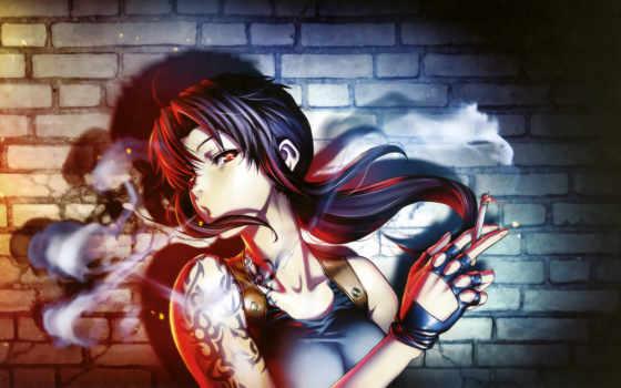 anime, лагуны, пираты, черной, art, black, lagoon, revy,