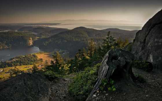 гора, взгляд, природа