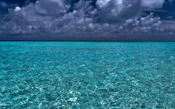ocean, бирюзовый, судно,