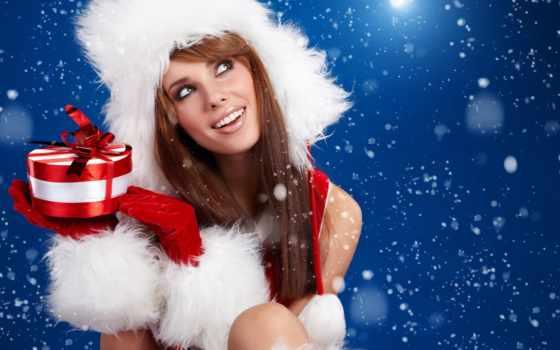 девушка, иней, снежинки, new, год, дар, дед, деда, мороза, новому,