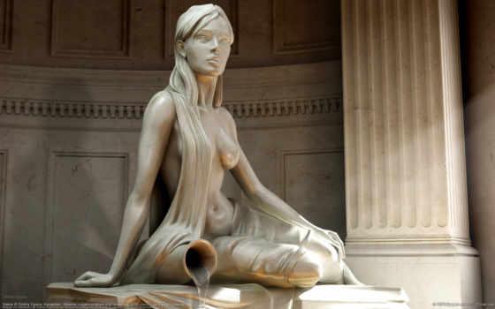 девушка, статуя