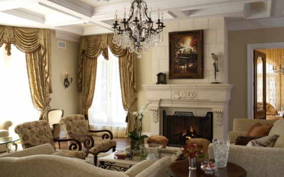 room, living, formal, стоимость, дома, загородного, от, руб, шторы, with, ideas,