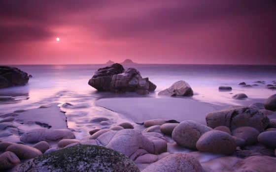 mac, закат, море