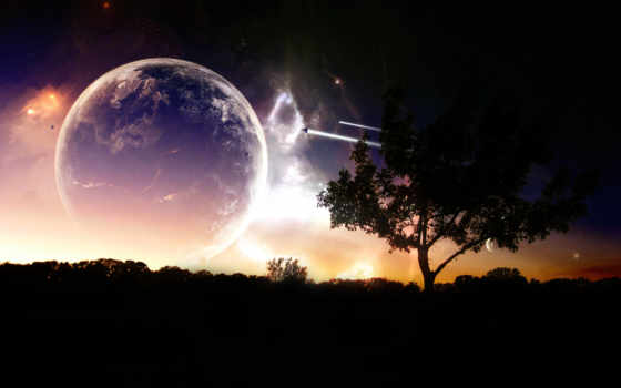 landscape, cosmic, космическая