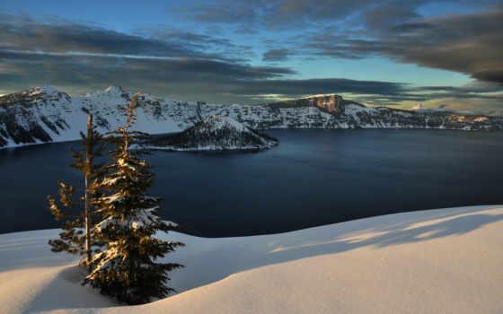 пейзажи -, горы, картинку, природа, небо, winter, water, вечер, zhivotnye, zoom, trees,