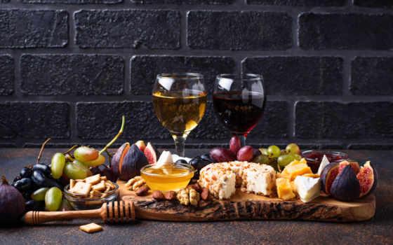 вино, фиг, виноград, сыр, glass,