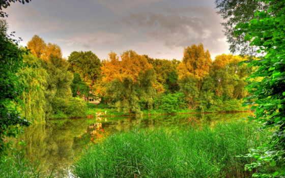 картинка, германия, озеро, hamburg, города, горы, природа,