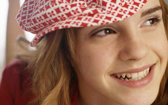 emma, watson, улыбка