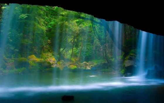 широкоформатные, природа, водопад, зубы, амазонки, шикарный,