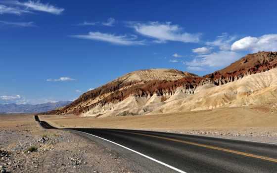 desierto, carretera, del, paisajes, pantalla, fondos, carreteras, naturaleza, fondo, través,