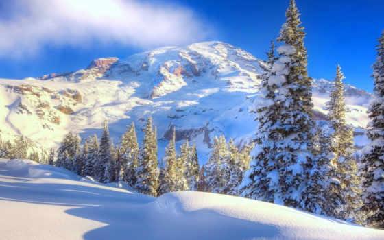winter, природа, free, гора, peak, landscape,