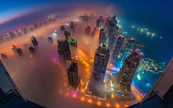 высоты, dubai, оаэ, птичьего, город, полёта, городские, пейзажи -, экскурсия, мегаполисов,