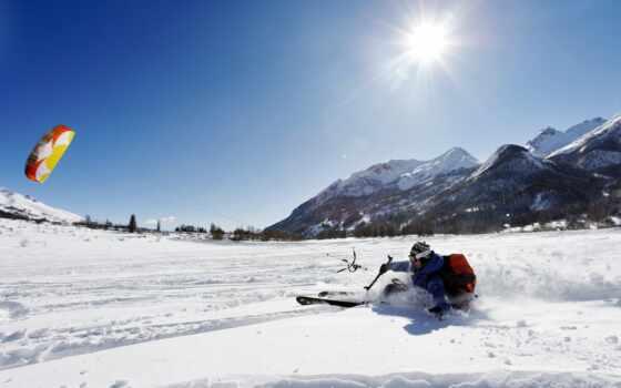 снег, winter, спорт, холод, гора, температура, ski