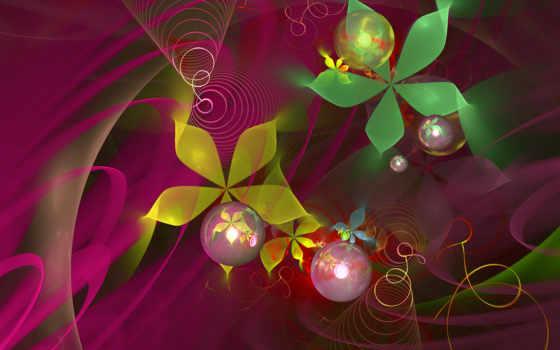 абстракция, flowers