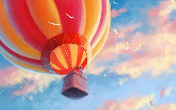 коллекция, air, шар, воздушные, шарики, птицы, нов,