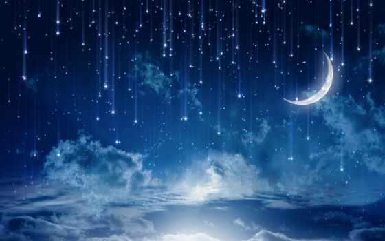 небо, звездное, свет
